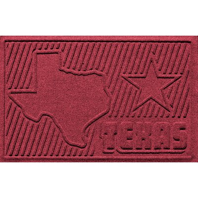 Aqua Shield Texas Doormat Color: Red/Black