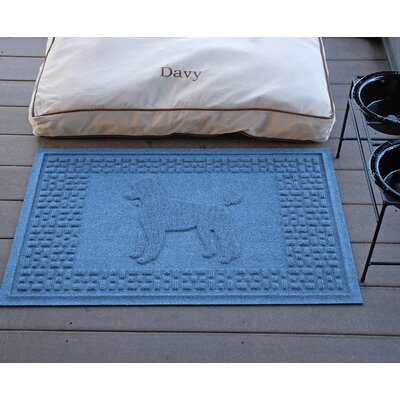 Aqua Shield Poodle Doormat Color: Medium Blue