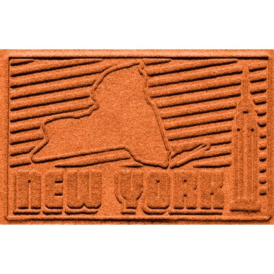 Aqua Shield New York Doormat Color: Orange