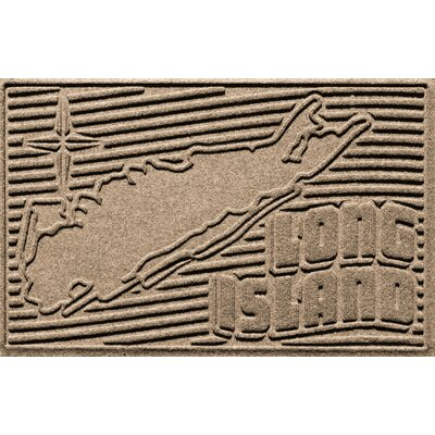 Aqua Shield Long Island Doormat Color: Camel