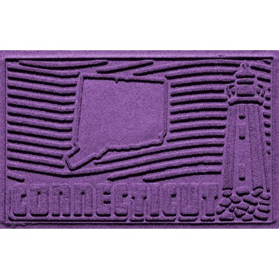 Aqua Shield Connecticut Doormat Color: Purple
