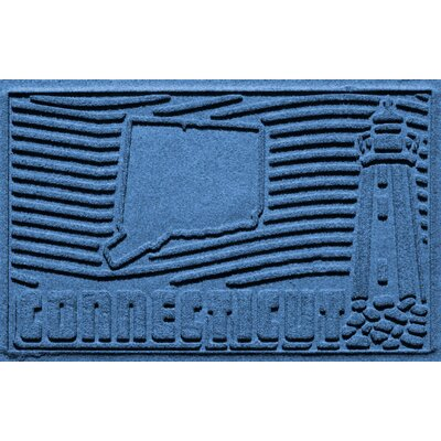 Aqua Shield Connecticut Doormat Color: Medium Blue