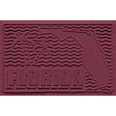 Aqua Shield Florida Doormat Color: Bordeaux