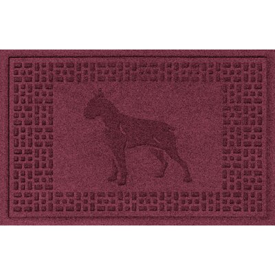 Aqua Shield Boxer Doormat Color: Bordeaux
