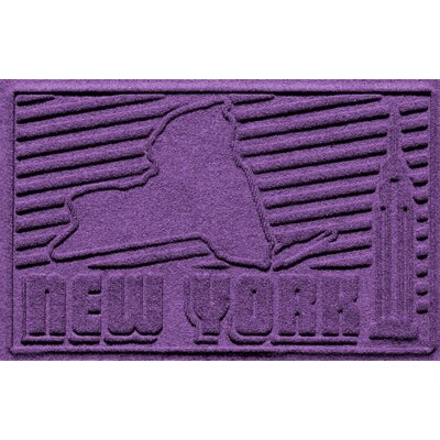Aqua Shield New York Doormat Color: Purple