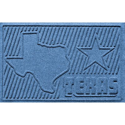 Aqua Shield Texas Doormat Color: Medium Blue
