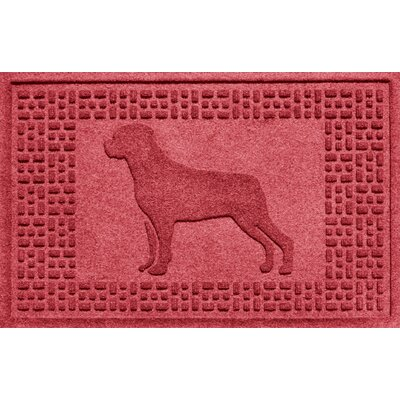Aqua Shield Rottweiler Doormat Color: Solid Red