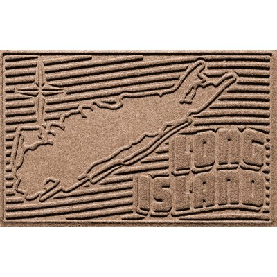 Aqua Shield Long Island Doormat Color: Medium Brown
