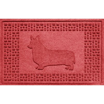 Aqua Shield Corgi Doormat Color: Solid Red