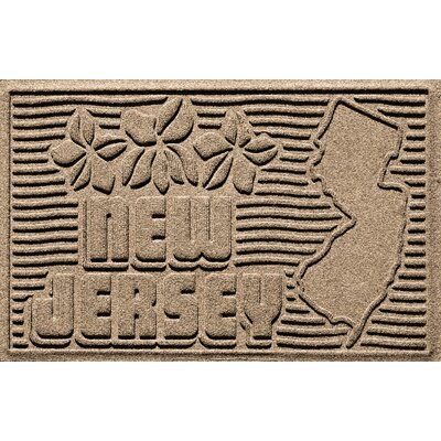 Aqua Shield New Jersey Doormat Color: Camel