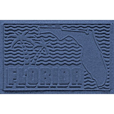 Aqua Shield Florida Doormat Color: Navy