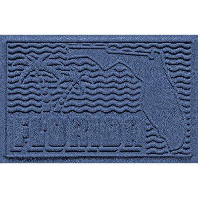 Aqua Shield Florida Doormat Color: Navy