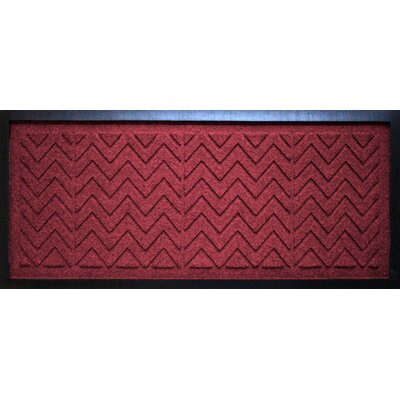 Conway Chevron Boot Tray Color: Red/Black