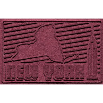 Aqua Shield New York Doormat Color: Bordeaux