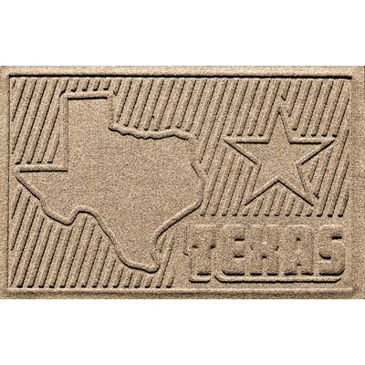 Aqua Shield Texas Doormat Color: Camel