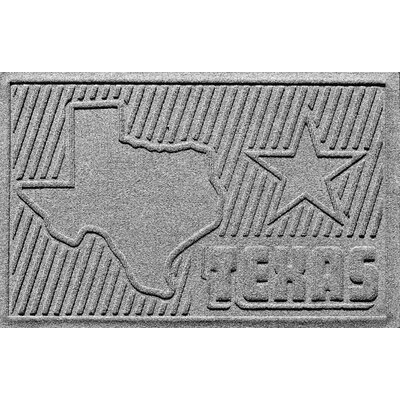 Aqua Shield Texas Doormat Color: Medium Gray