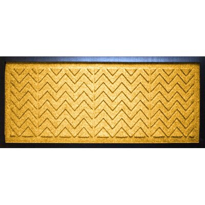 Conway Chevron Boot Tray Color: Yellow