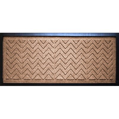 Conway Chevron Boot Tray Color: Medium Brown
