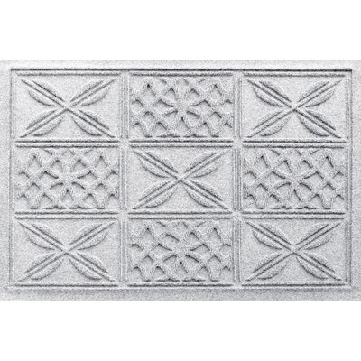 Aqua Shield Patchwork Grid Doormat Color: White