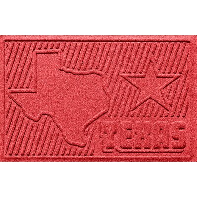 Aqua Shield Texas Doormat Color: Solid Red