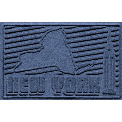 Aqua Shield New York Doormat Color: Navy