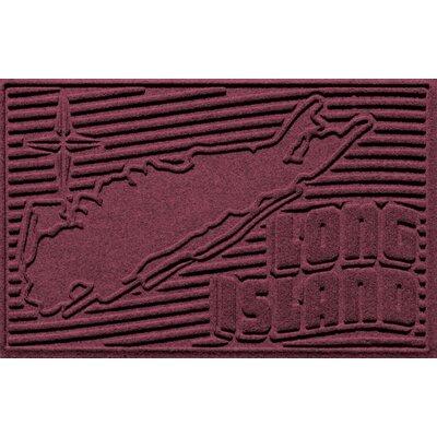 Aqua Shield Long Island Doormat Color: Bordeaux