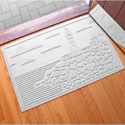 Aqua Shield Lighthouse Cove Doormat Color: White