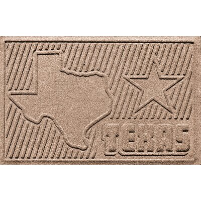 Aqua Shield Texas Doormat Color: Medium Brown