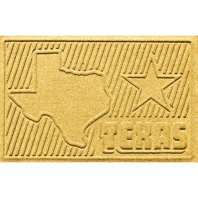 Aqua Shield Texas Doormat Color: Yellow