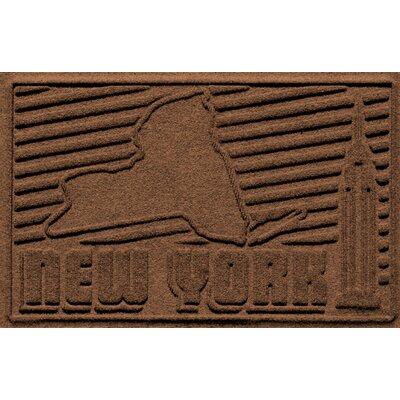 Aqua Shield New York Doormat Color: Dark Brown