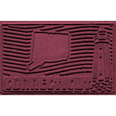 Aqua Shield Connecticut Doormat Color: Bordeaux