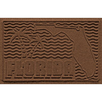 Aqua Shield Florida Doormat Color: Dark Brown
