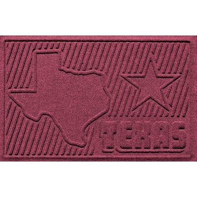 Aqua Shield Texas Doormat Color: Bordeaux