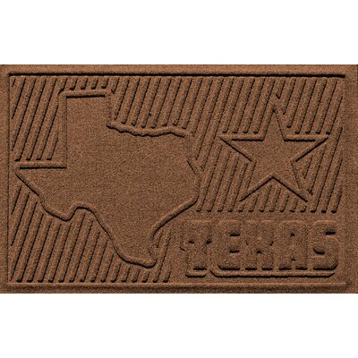 Aqua Shield Texas Doormat Color: Dark Brown