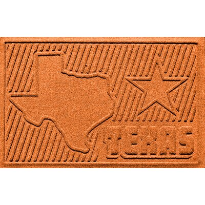 Aqua Shield Texas Doormat Color: Orange