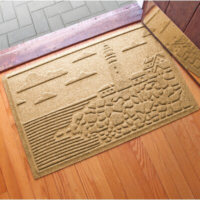 Aqua Shield Lighthouse Cove Doormat Color: Gold