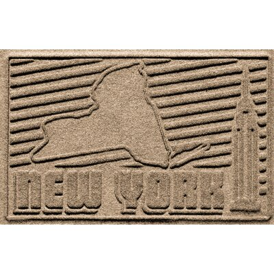 Aqua Shield New York Doormat Color: Camel