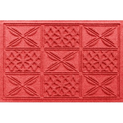 Aqua Shield Patchwork Grid Doormat Color: Solid Red