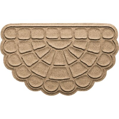 Aqua Shield Cobblestone Slice Doormat Color: Camel
