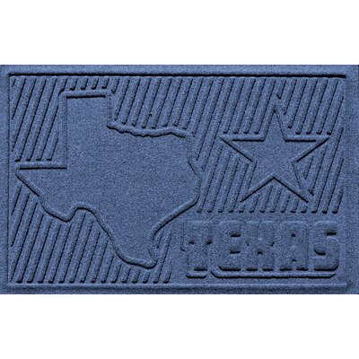 Aqua Shield Texas Doormat Color: Navy