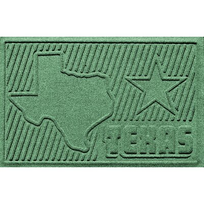 Aqua Shield Texas Doormat Color: Light Green
