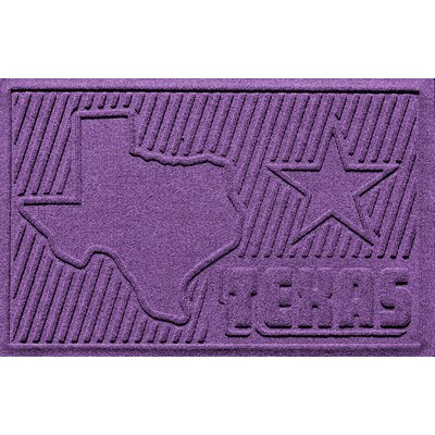 Aqua Shield Texas Doormat Color: Purple