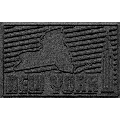 Aqua Shield New York Doormat Color: Charcoal
