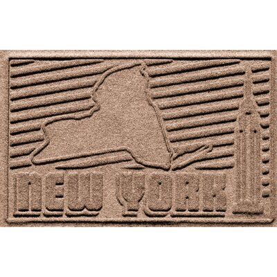 Aqua Shield New York Doormat Color: Medium Brown