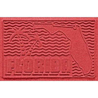 Aqua Shield Florida Doormat Color: Solid Red