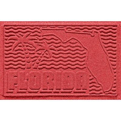 Aqua Shield Florida Doormat Color: Solid Red