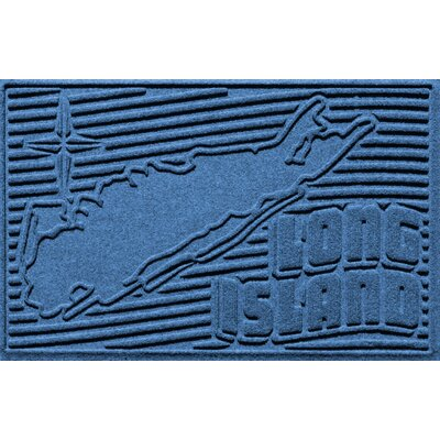 Aqua Shield Long Island Doormat Color: Medium Blue