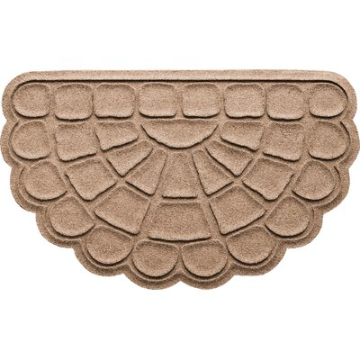 Aqua Shield Cobblestone Slice Doormat Color: Medium Brown