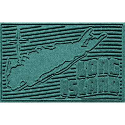 Aqua Shield Long Island Doormat Color: Aquamarine