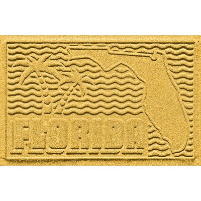 Aqua Shield Florida Doormat Color: Yellow